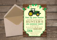 Do you need an affordable way to send out your kids birthday invitations? This Tractor Birthday invitation is perfect for any party at an affordable price! If you are interested in customization, please send me a message. This includes if you want different wording or if you want different colors. You will receive one High Resolution JPEG 300 DPI size 5x7 or 4x6. The matching thank you card is 4x6! Matching Cupcake Toppers are 2 each and 12 fit on one 8.5 x 11 sheet…