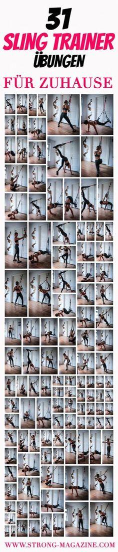 31 Sling Trainer Übungen für Zuhause - das Trainingsplakat