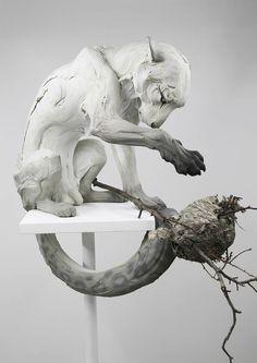Follow The Black Rabbit – The beautiful animal sculptures of Beth Cavener (image)