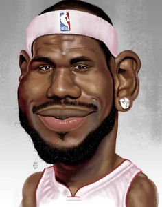 LeBron James | 29 Celebrity Caricatures That Are Incredibly Accurate
