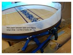 Epoxy table top project. Good to know.