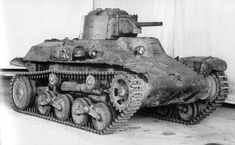 Japanese light tank Type 97 Te-Ke  Used to support infantry the Te-Ke was a lightweight tank (4.7 tonnes) and was best used against chinese forces who lacked any serious anti-tank weapons. #worldwar2 #tanks