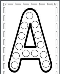humeurscreatives Alphabet Worksheets, Alphabet Activities, Preschool Worksheets, Toddler Learning Activities, Montessori Activities, Teaching Kids, Preschool Writing, Homeschool Kindergarten, Do A Dot