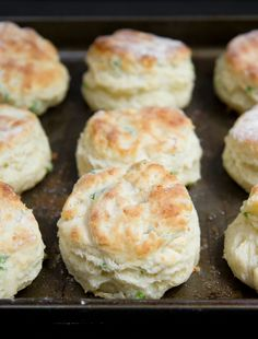 Garlic Scape and Sharp Cheddar Biscuits