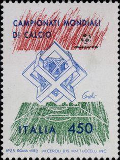 Francobollo emesso in vista dei Mondiali di calcio Italia '90