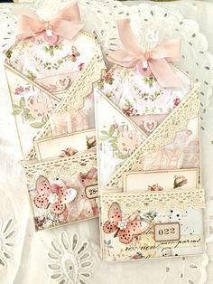 A multi folded pocket Journal Paper, Journal Cards, Junk Journal, Envelopes, Handmade Gift Tags, Pocket Cards, Handmade Journals, Vintage Tags, Fabric Tags