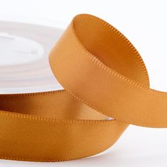 Luxury satin ribbon in antique gold - this colour comes in 3mm, 6mm, 10mm, 16mm, 25mm and 38mm widths so has many different craft uses.