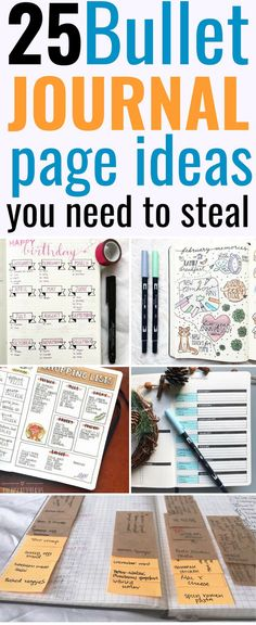 25 bullet journal page ideas you need to steal! These bujo ideas are THE BEST! Bullet Journal Teacher, Bullet Journal Monthly Spread, Bullet Journal Hacks, Bullet Journal Layout, Bullet Journal Inspiration, Journal Ideas, Journal Paper, Art Journals, Bullet Journel