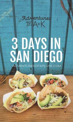3 Days in San Diego Itinerary San Diego Shopping, San Diego Vacation, San Diego Travel, San Diego Trip, Vacation List, Vacation Ideas, Vacation Spots, San Diego Tacos, San Diego Food