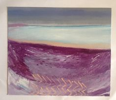 'Calm Bay' oil, oil stick on mount board. Nathan Davies