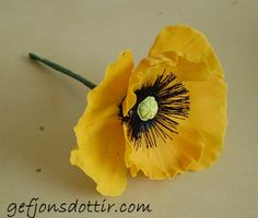 Gumpaste Poppy Tutorial. Click on photo of flower to take you to the tuitorial