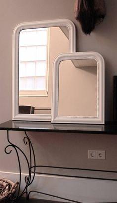 House Doctor Franse spiegel wit groot - Tutze