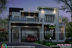 2883 sq-ft Contemporary style house (Kerala home design)