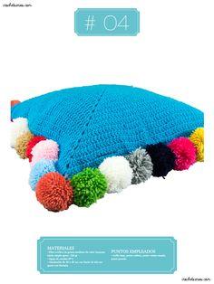 Crochet Almohadones #04 Crochet Hats, Beanie, Pillow Design, Dots, Knitting Hats, Beanies, Beret