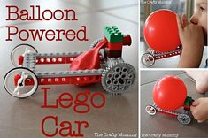 Burn some Rubber with Balloon Powered Lego Car! - http://theperfectdiy.com/burn-some-rubber-with-balloon-powered-lego-car/ #Birthdayidea, #DIYCrafts