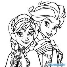 Elsa The Snow Queen Giving Hug Coloring Page