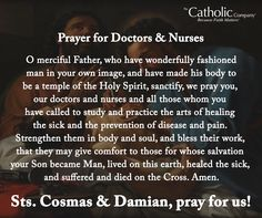 A Prayer for Doctors and Nurses
