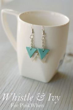 DIY Polymer Clay Geometric Earring