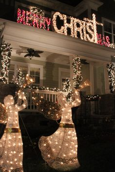 Mcadenville Homes Photos Of Christmas Town Usa Prep Lighted Outdoor Angel Decoration
