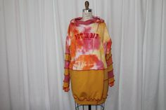 Upcycled hoodie multicolor oversized sweatshirt with by MilaLem