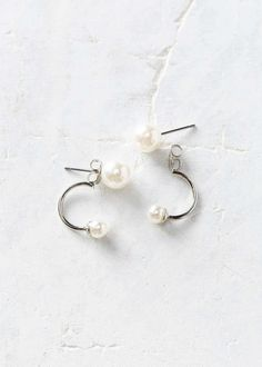 front and back pearl post earrings