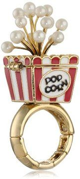 "Betsey Johnson ""A Day at the Zoo"" Popcorn Stretch Ring, Size 7.5 on shopstyle.com"