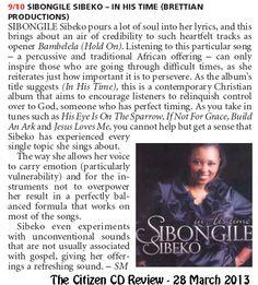 Sibongile Sibeko in the Citizen Newspaper - 23 March 2013