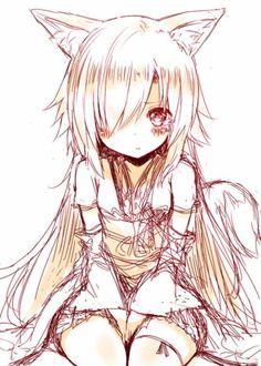 Anime girl neko girl
