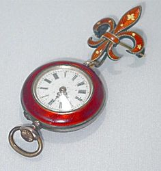 Antique Sterling and Guilloche Working Ladies Watch