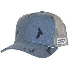 Djinns Trucker Cap HFT Jersey Bird blau Streetwear Shop 0738e61e9a9