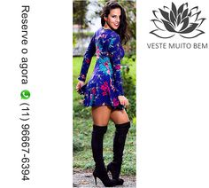 🎯 Vestido de Malha Estampado Godê com Zíper R$ 85,00 🔥 Reserve agora pelo whatsapp (11)96667-6394  http://www.modaemroupafeminina.com.br/2017/06/vestido-de-malha-estampado-gode-com.html