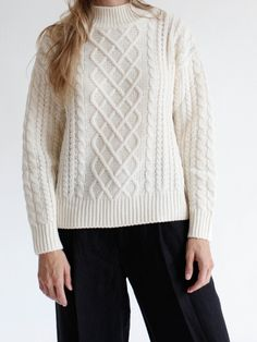 Frame Le Cable Sweater - Millet