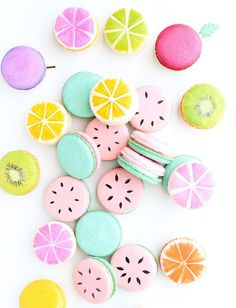 Watermelon Macarons One In A Melon Macarons French Macarons Fruit Macarons Custom Macarons Orange Macarons Lemon Macarons Macaroons Cute Desserts, Dessert Recipes, Baking Recipes, Macaroon Wallpaper, Kreative Desserts, Lemon Macarons, Cute Baking, Macaron Cookies, Shortbread Cookies
