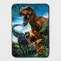 Jurassice World ultra soft plush throw. Features fun Jurassic World characters. Great addition for the Jurassic World fans. Throw is x polyester and machine washable, tumble dry low. Jurassic World Characters, Jurassic World Dinosaurs, Jurassic Park World, Marquesan Tattoos, Dinosaur Art, Dinosaur Crafts, Prehistoric Animals, Fantasy World, Illustration Art