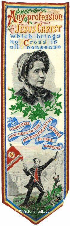 Stevens silk bookmark - Salvation Army - Victorian www.victoriansilk.com
