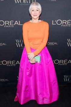 Helen Mirren shows off her sleek new bob at L'Oreal Gala in Toronto Christie Brinkley, Helen Mirren, Diane Keaton, Taylor Hill, 50 Fashion, Womens Fashion, Fashion Trends, Style Fashion, Womens Worth