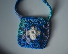 Granny Square Necklace - crochet jewelry By Stringgle