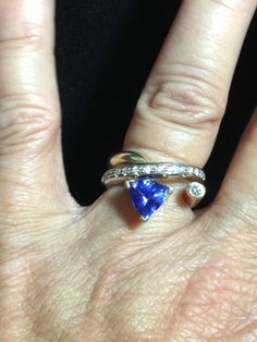 14K Tanzanite Diamond  Two Color Gold RIng by BlingThings on Etsy, $1499.00
