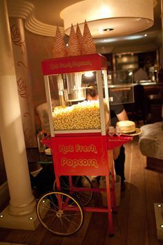 Popcorn Machines, Popcorn Cart, Old Hollywood Sweet 16, Old Hollywood Prom…