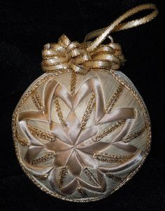 Gold and Cream Quilted Ornament by Ornaments FromHome on Etsy, $20.00 Lovely, Lisa!