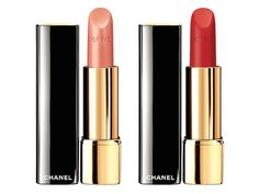 Chanel Rouge Allure Lipstick in Volage (left) & Rouge Allure Velvet Lipstick in La Flamboyante (right) - Holiday 2014