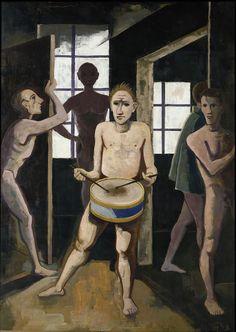 Karl Hofer (1878–1955): Die schwarzen Zimmer (II. Fassung), 1943. Öl auf Leinwand, 149 x 110 cm