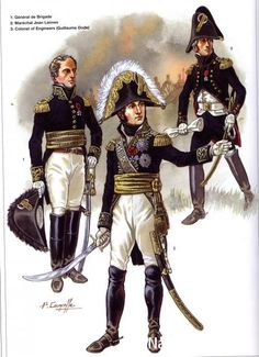 Napoleon Généraux 1792-1809 1-Général de Brigade 2-Maréchal Jean Lannes 3-Colonel of engineers