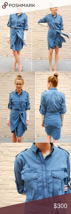 Etoile Isabel Marant Cotton-chambray shirt dress AUTHENTIC Etoile Isabel Marant Cotton-chambray shirt dress Size 2 (fits true to size)  Retails for $595 Previously worn but in great condition Isabel Marant Dresses