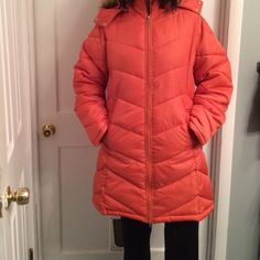Puffer Parka (long length) Bought this coat, but after wearing it one time, realized it is too big for me. I would say this runs like a 10-12, and I am an 8. It is nice and long, which provides more warmth for more of your body! Apollo Jeans  Jackets & Coats Puffers