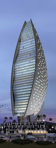 Sheth Tower, Iris Bay, Dubai, UAE by Atkins Architects :: 32 floors, height 170m :: under construction