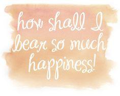 Happiness 8x10 Watercolor Print Jane Austen by BrightsideStudio