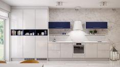 Sininen väri on virkistävän omaperäinen valinta vaaleaan keittiöön!😊 #aina #ainakeittiöt #kitchen #inspiration #detail #decor #vaaleatkeittiöt #suomalainen Kitchen Dining, Kitchen Cabinets, Dining Room, Commercial Interiors, Santorini, Modern, Table, Furniture, Home Decor