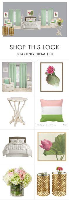 Dormitorio by jactoral on Polyvore featuring interior, interiors, interior design, hogar, home decor, interior decorating, Waverly and Pottery Barn