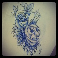 Roses and bunny tattoo